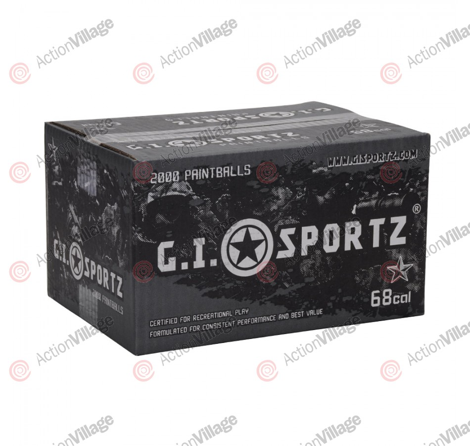 GI Sportz 1 Star Paintball Case 2000 Rounds - Yellow Fill