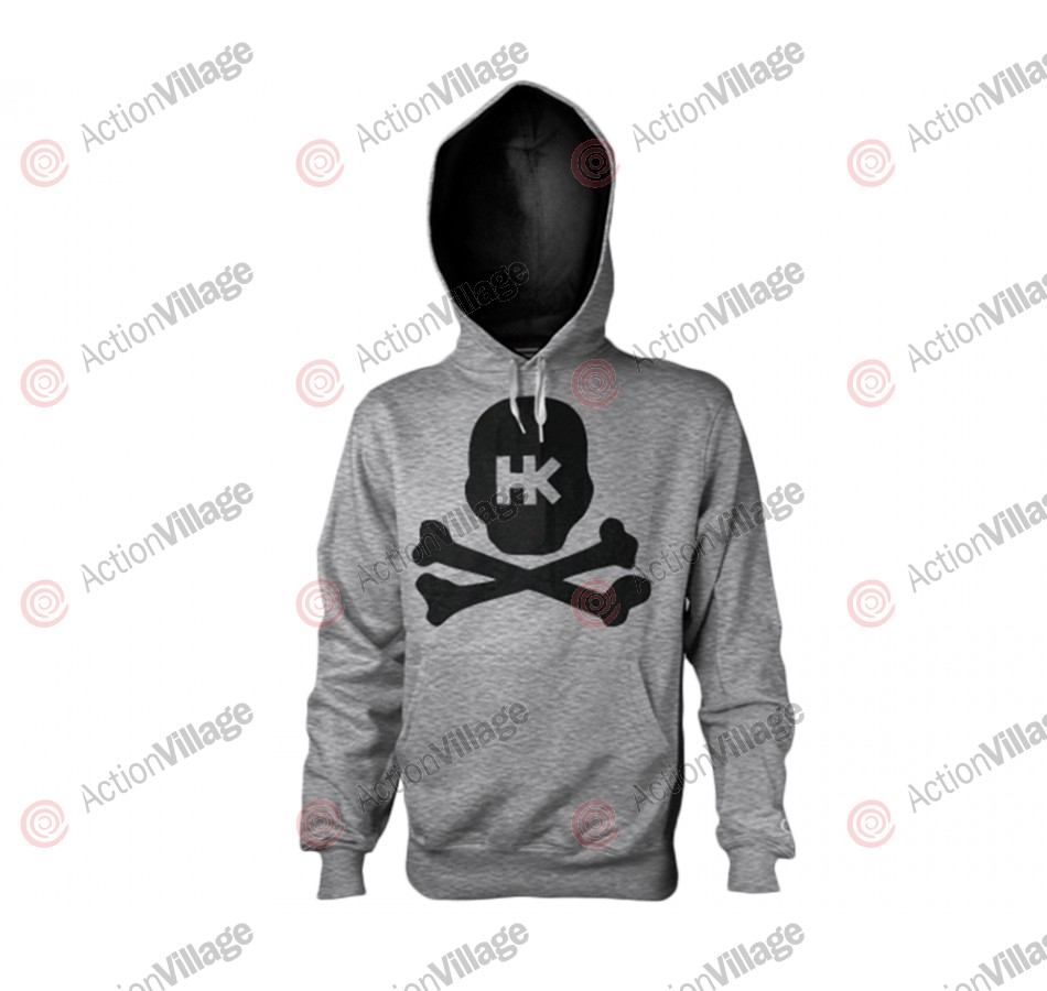 HK Army Crossbone Pull Over Hooded Sweatshirt - Grey