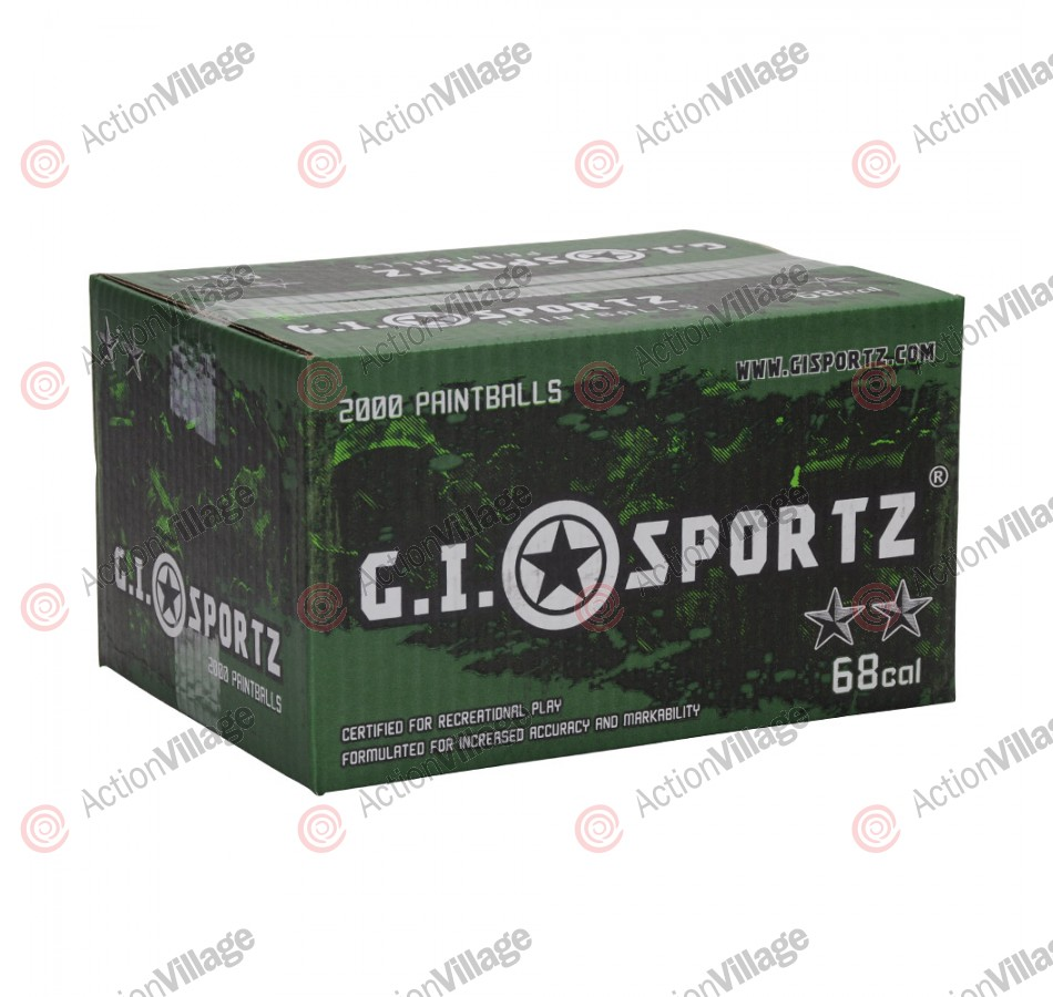 GI Milsim 2 Star Paintball Case 2000 Rounds - Yellow Fill