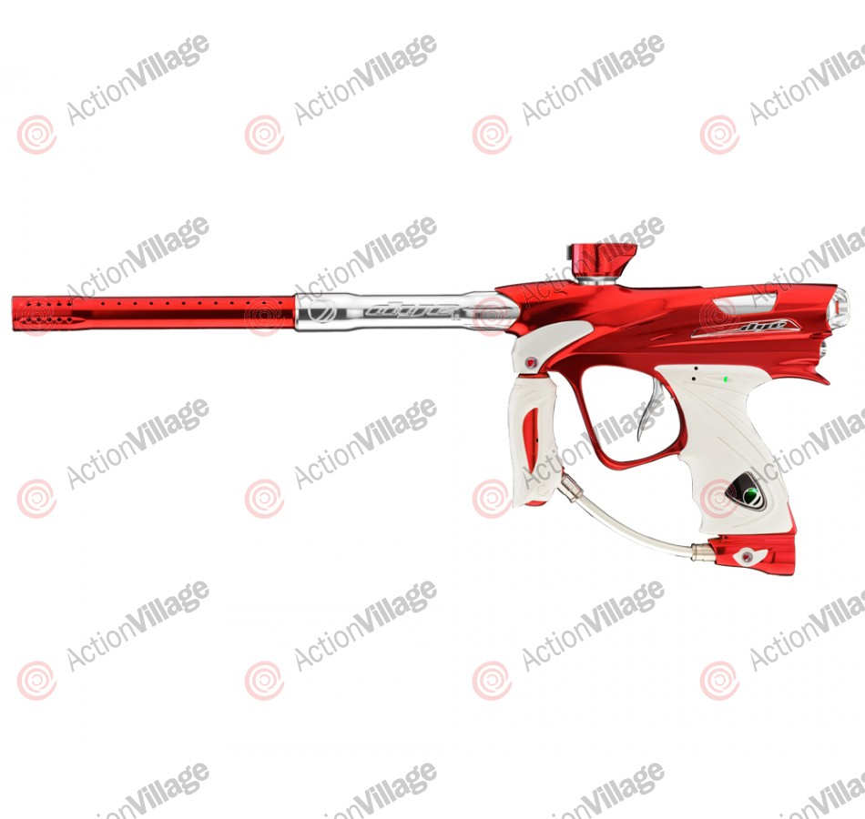 DYE DM12 Paintball Gun - Red/White Dust