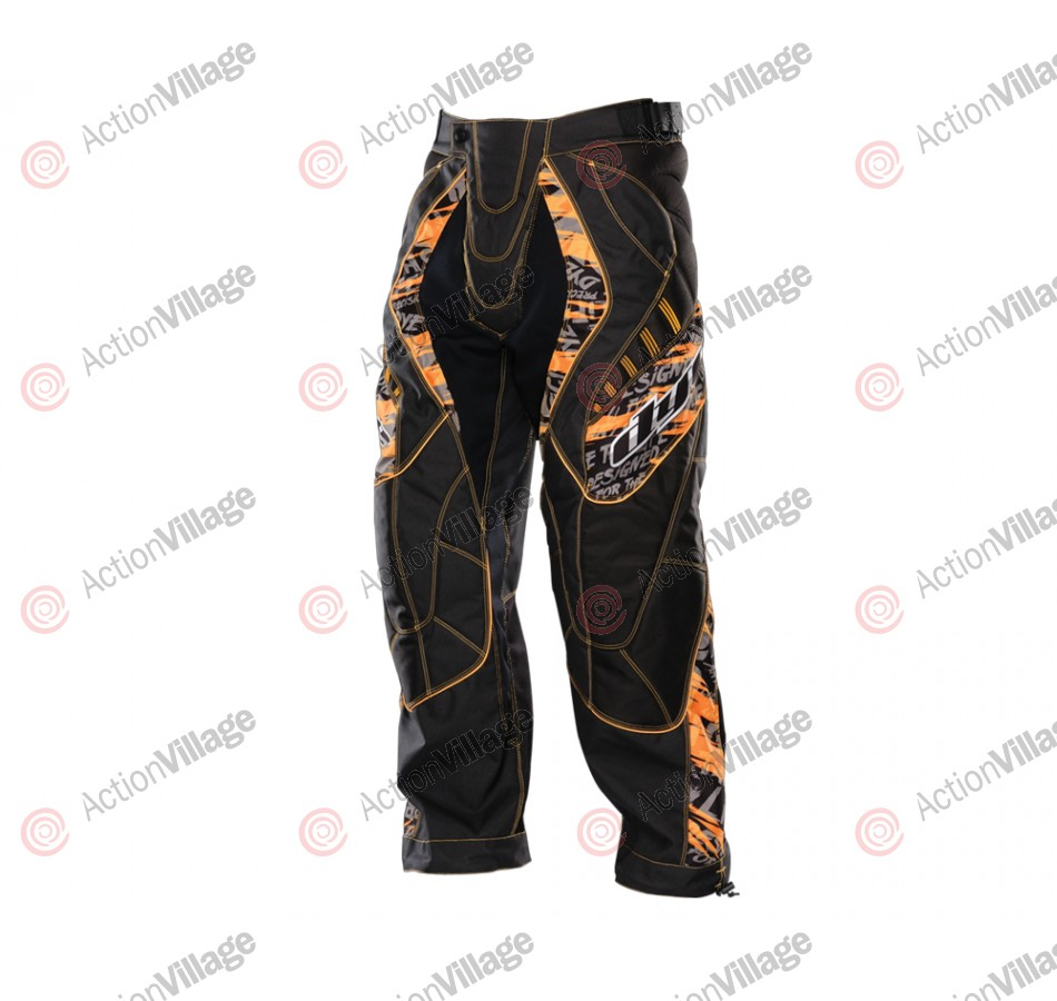2012 Dye C12 Paintball Pants - Tiger Orange