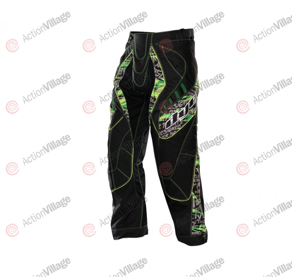 2012 Dye C12 Paintball Pants - Tiger Lime