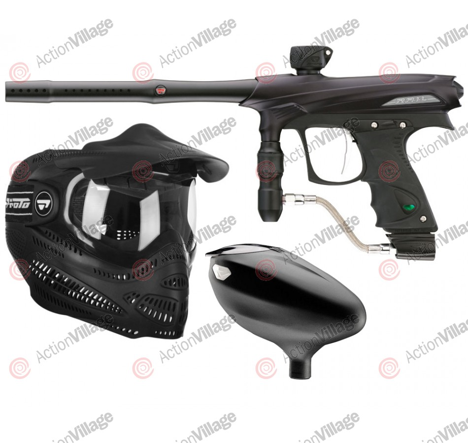 2011 Proto Rail PMR Paintball Gun Combo Kit - Dust Black