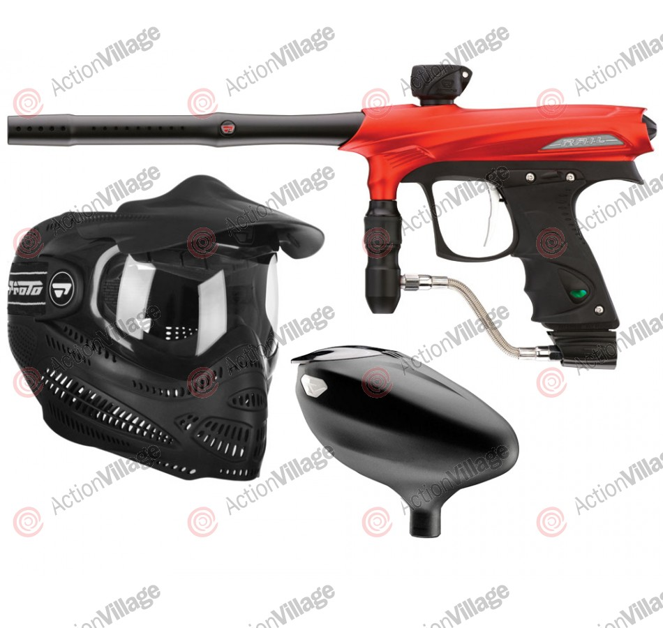 2011 Proto Rail PMR Paintball Gun Combo Kit - Dust Red