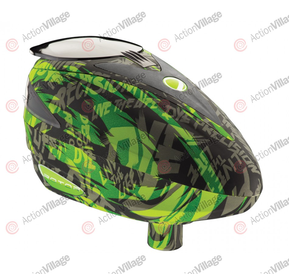 2012 Dye Rotor Paintball Loader - Lime Tiger