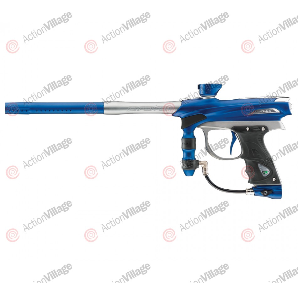 2012 Proto Reflex Rail Paintball Gun - Blue/Grey Dust