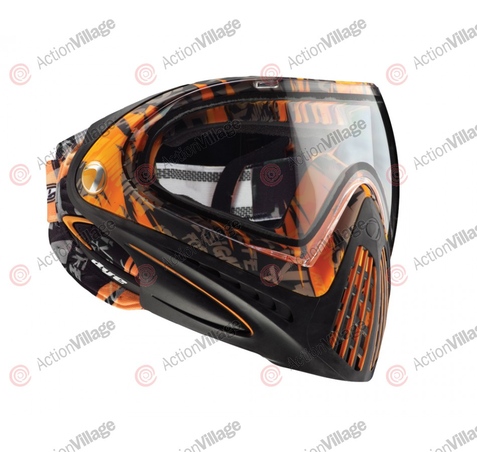 2012 Dye Invision Goggle I4 Pro Mask - Orange Tiger