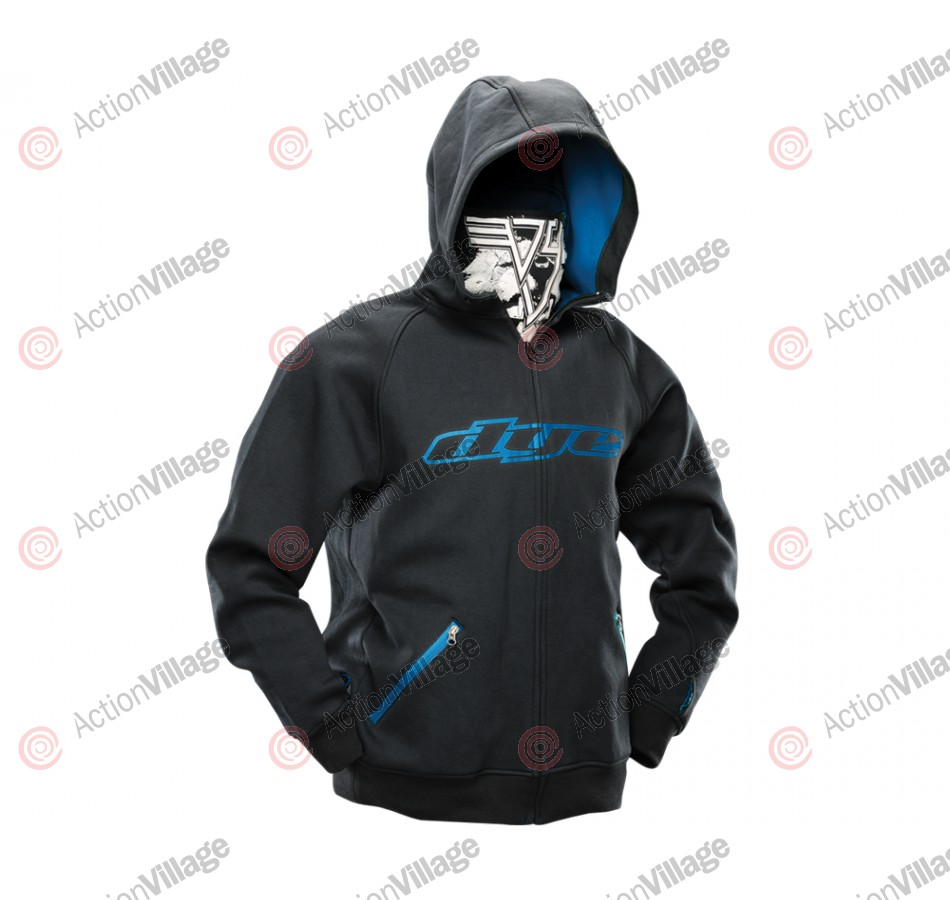 Dye 2012 Snow Hooded Sweatshirt - Grey/Cyan