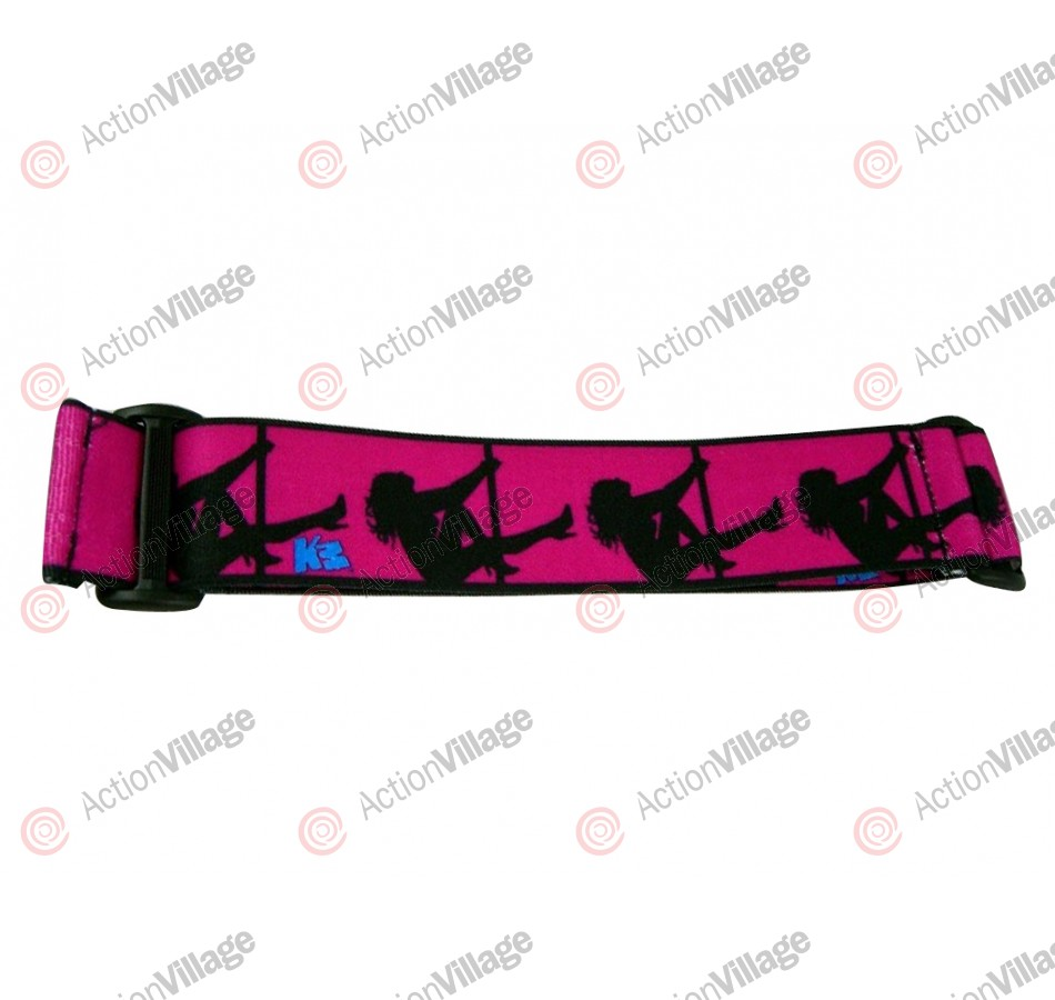 KM Paintball Goggle Strap - Pink Stripper