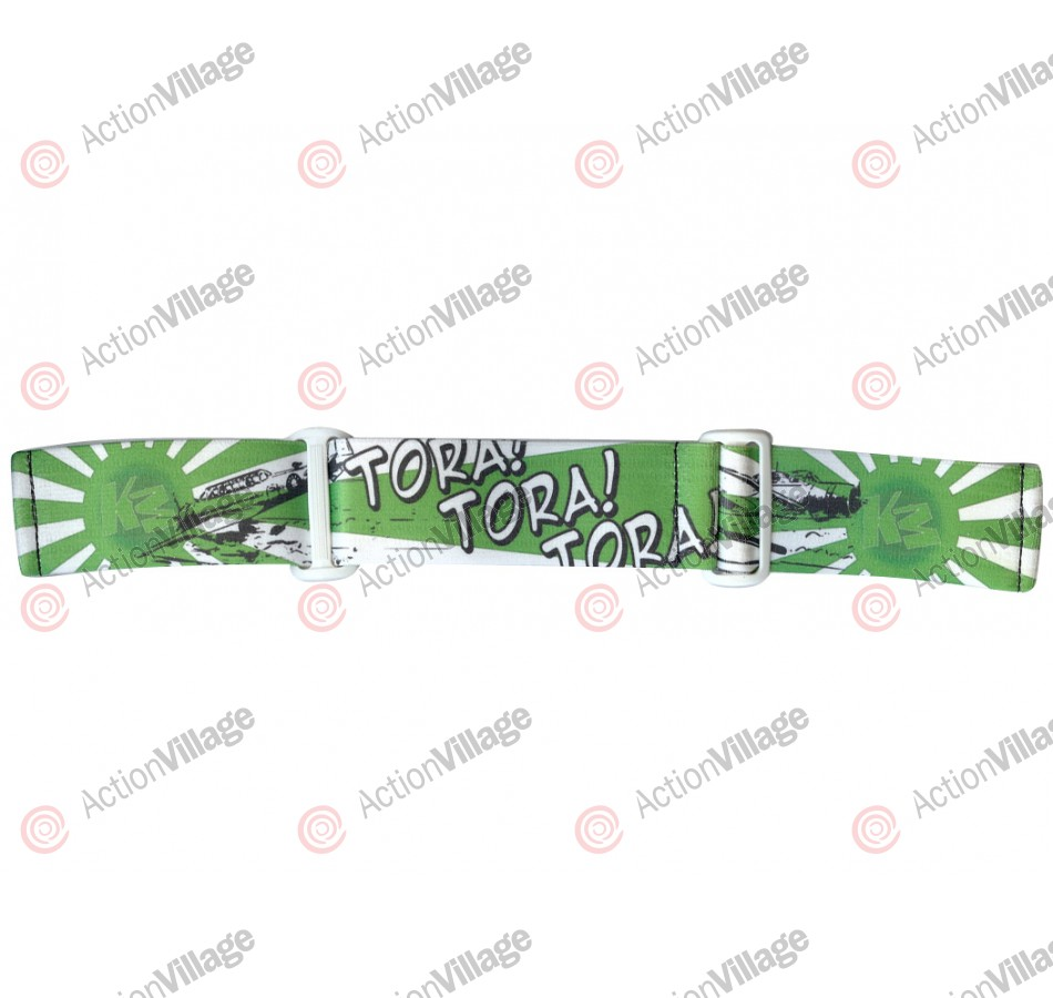 KM Paintball Goggle Strap - 09 Lime Tora