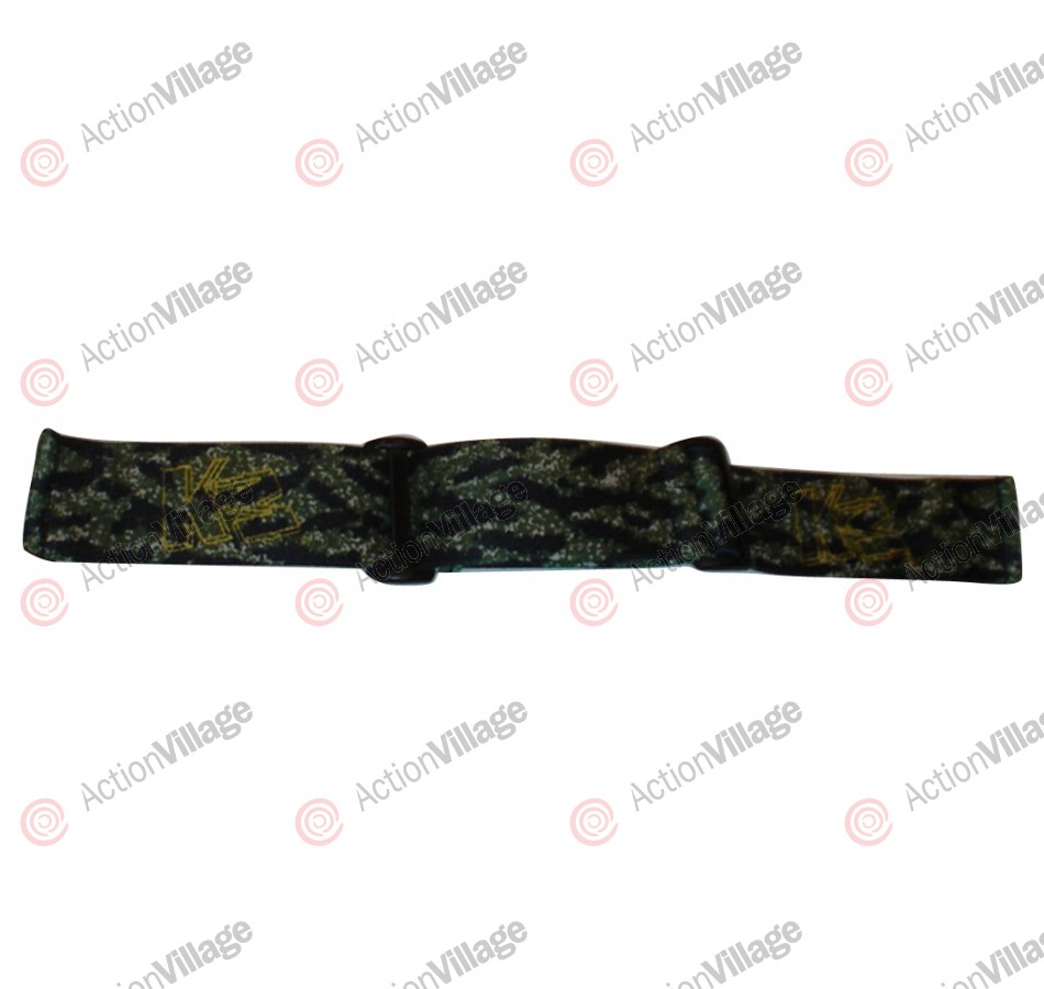 KM Paintball Goggle Strap - Tiger Camo