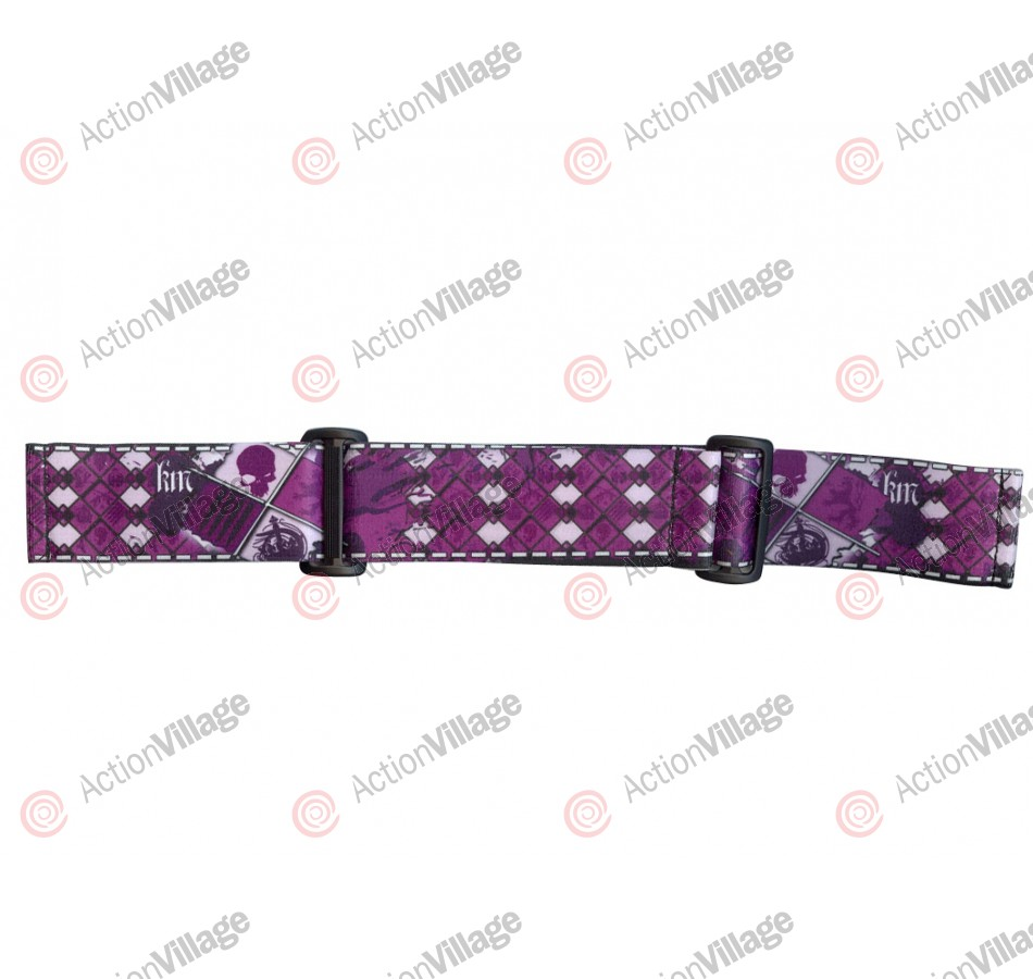 KM Paintball Goggle Strap - 09 Purple Skull Plaid