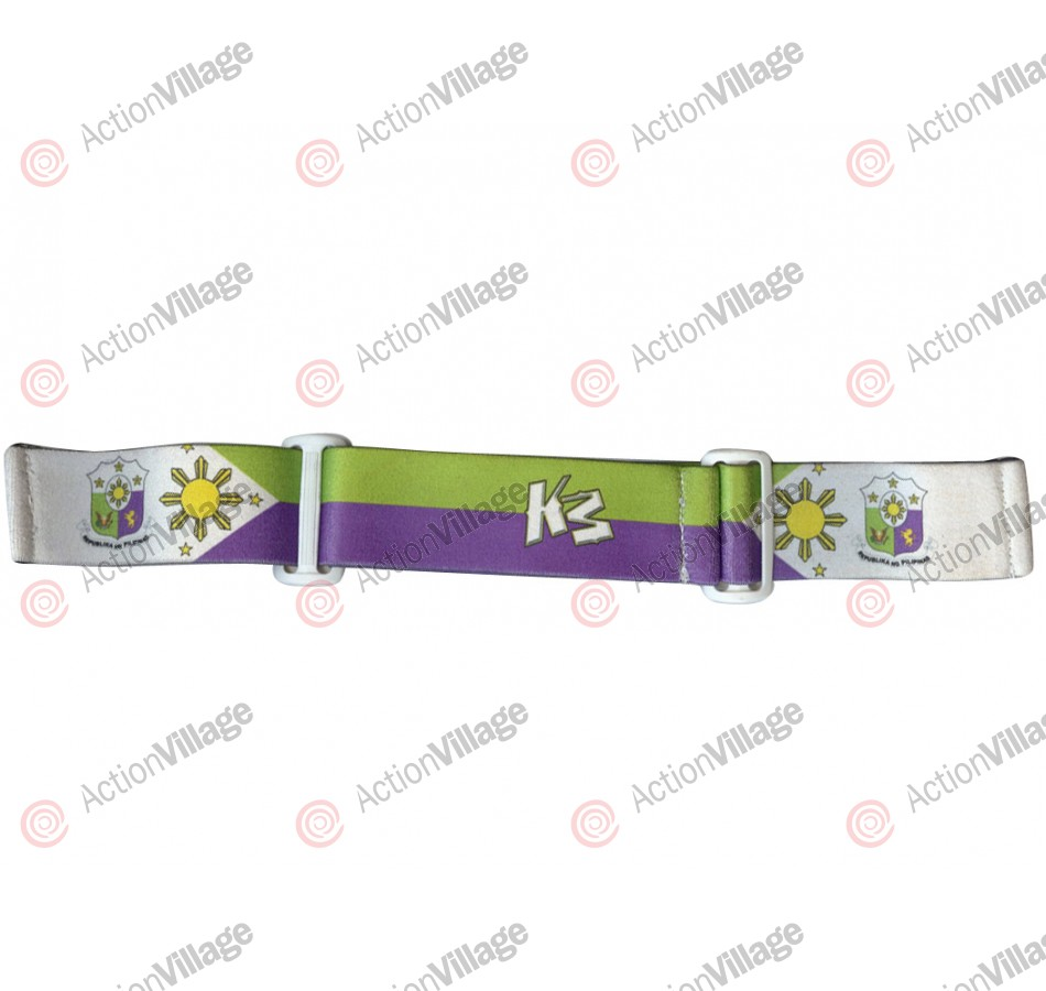 KM Paintball Goggle Strap - 09 Philipino White, Purple, & Green