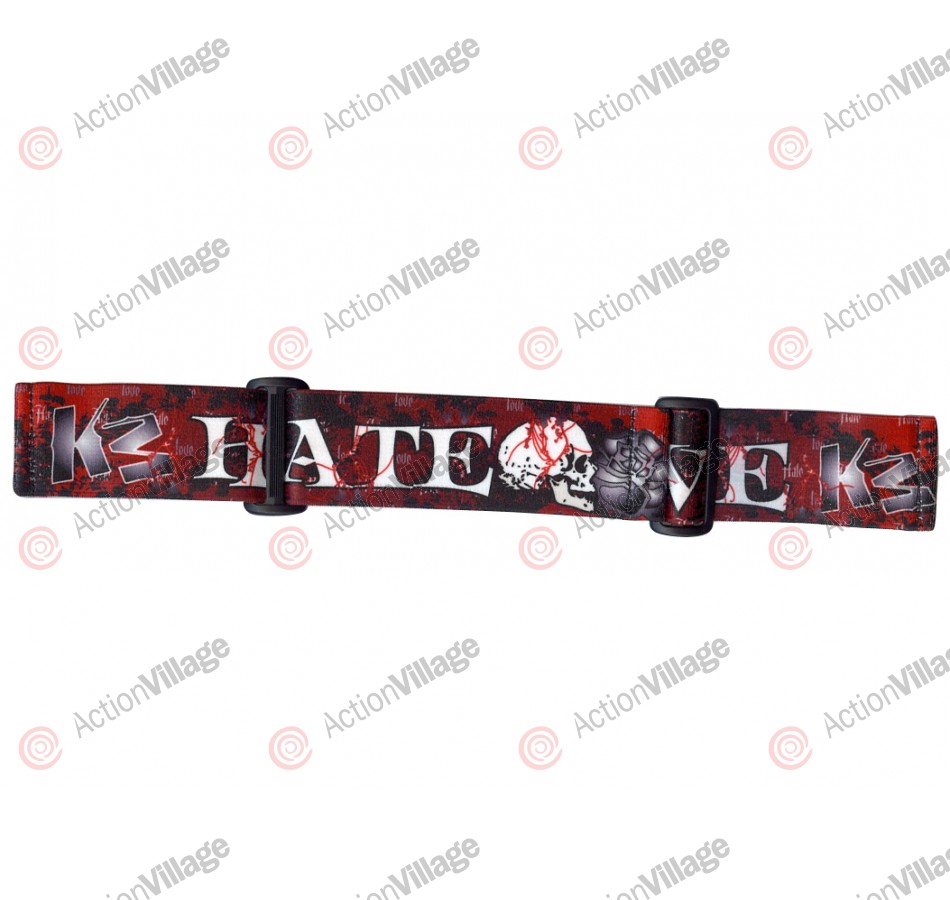 KM Paintball Goggle Strap - 09 Love Hate