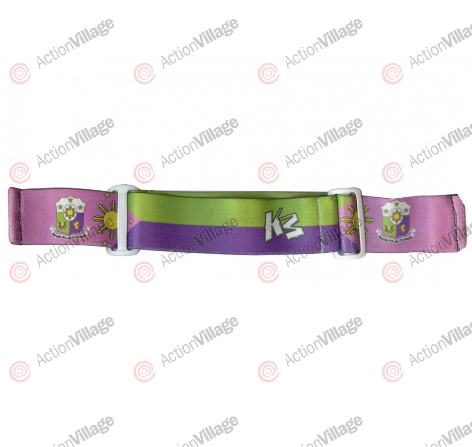 KM Paintball Goggle Strap - 09 Philipino Purple, Pink, & Green