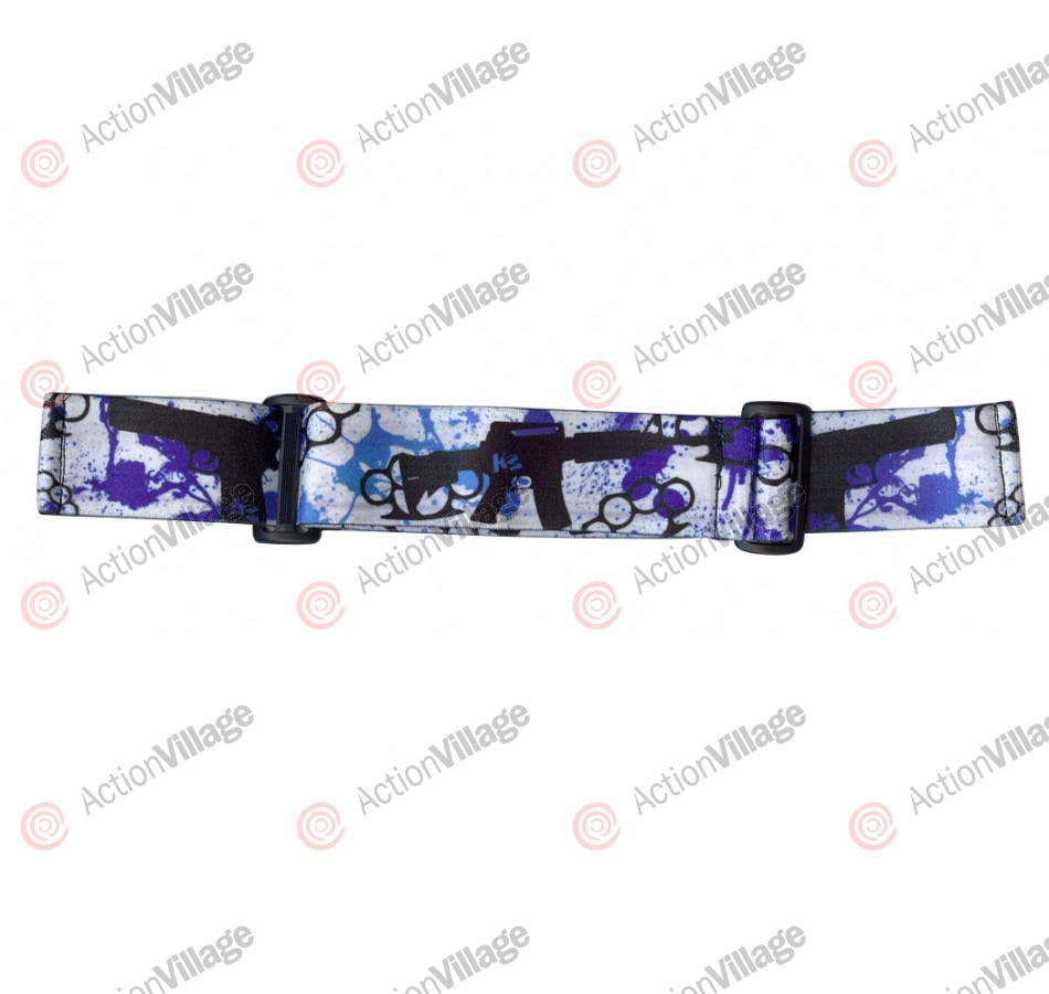 KM Paintball Goggle Strap - 09 Blue Knuckles