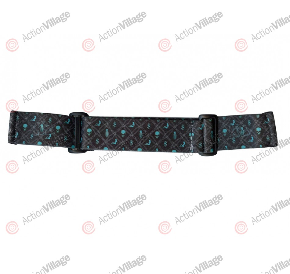 KM Paintball Goggle Strap - 09 Barbwire Baby Blue