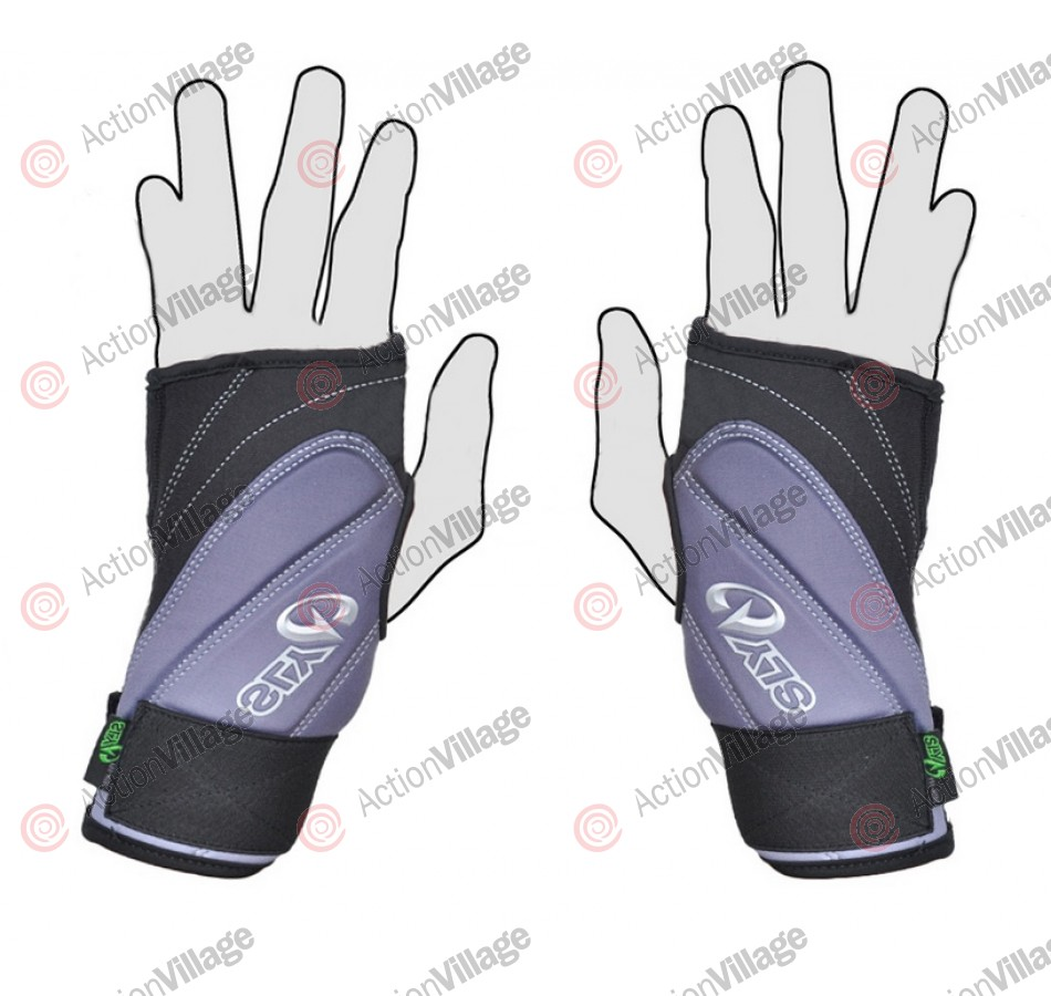 SLY 2011 S11 Pro-Merc Half Finger Gloves - Black/Grey