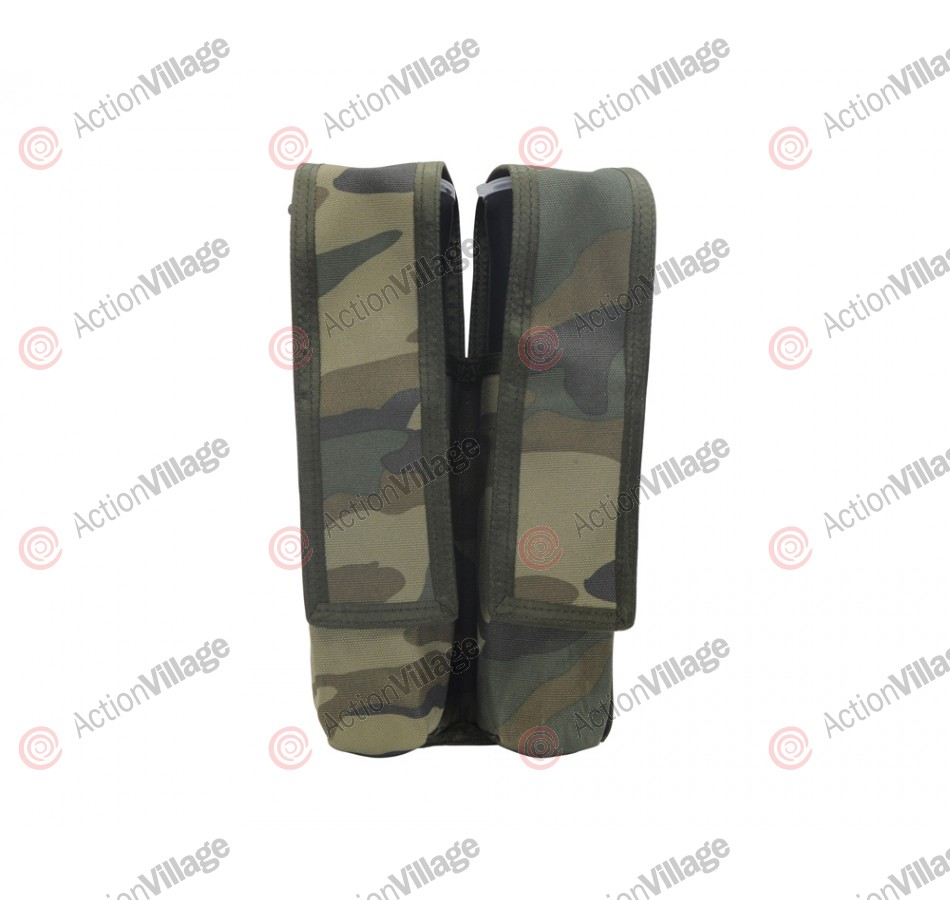 Special Ops Dual Pod Paintball Harness - Woodland Camo