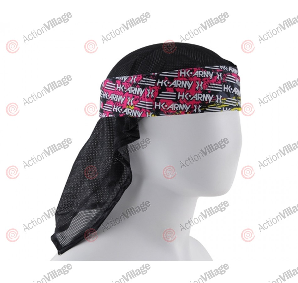 HK Army Headwrap - Splatter Neon