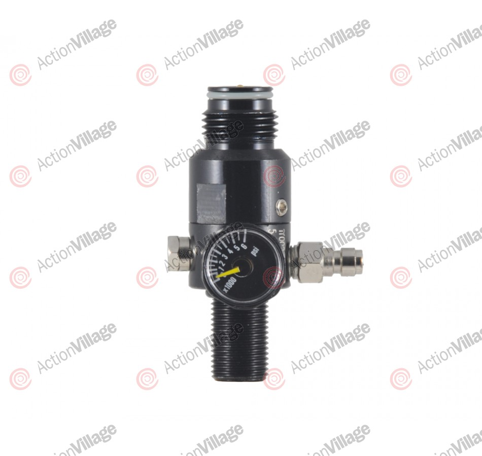 Standard High Pressure 4500 PSI Tank Regulator - Black