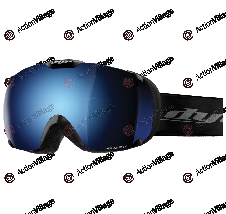 Dye T1 Black Snowboard Goggles w/ Additional Lens - Blue Ice Polarized