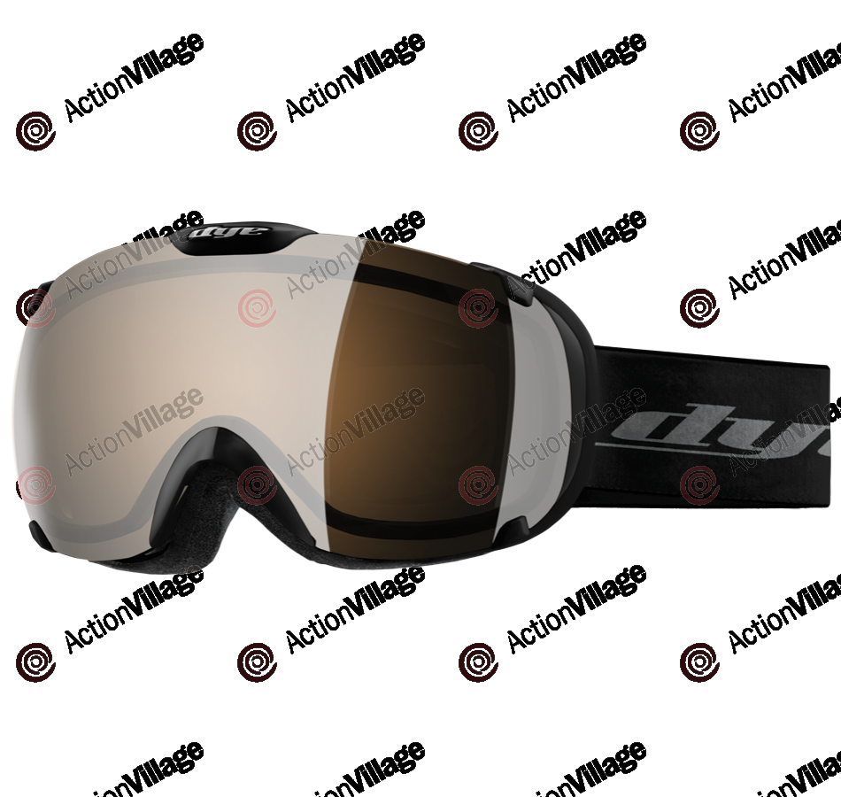 Dye T1 Black Snowboard Goggles - Orange Silver