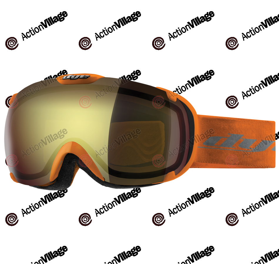 Dye T1 Orange Snowboard Goggles w/ Additional Lens - Faded Bronze