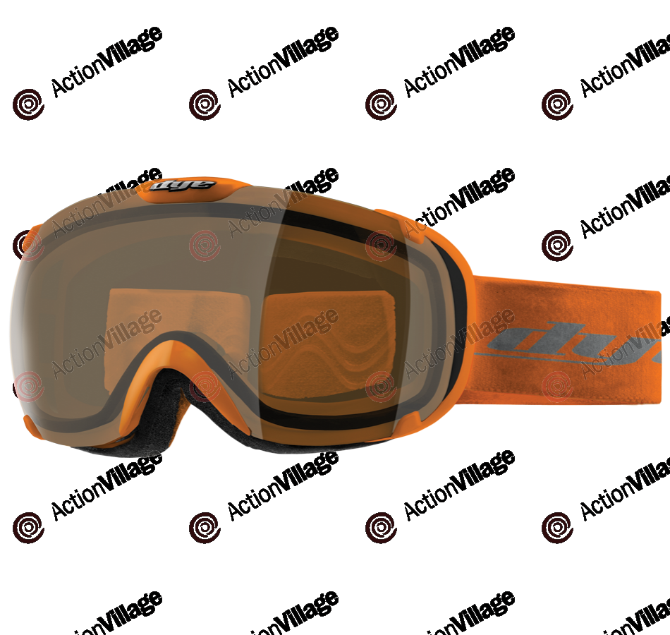 Dye T1 Orange Snowboard Goggles - HD