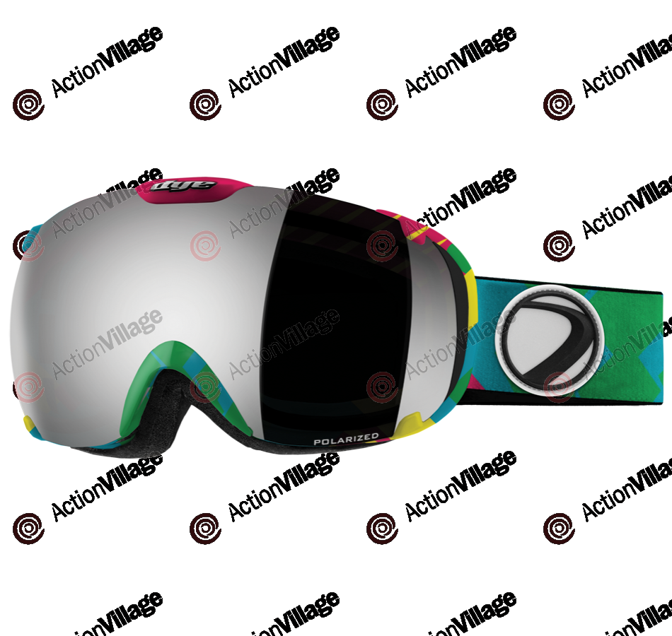 Dye T1 World Snowboard Goggles w/ Additional Lens - Smoke Silver Polarized