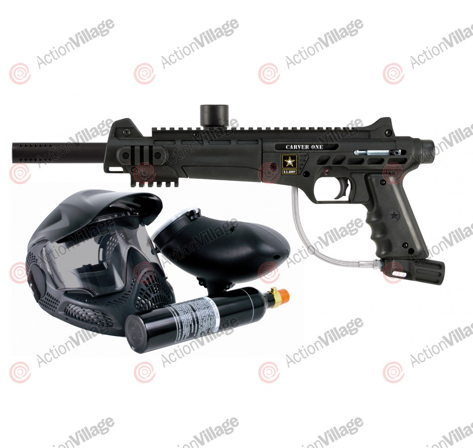 Tippmann Carver One Basic Powerpack Paintball Gun - Black