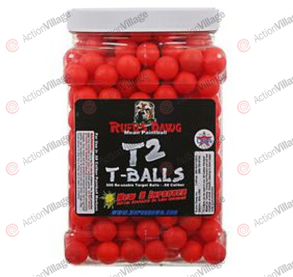 Rufus Dawg T2 T-Balls 500ct Reusable Target Balls - Red