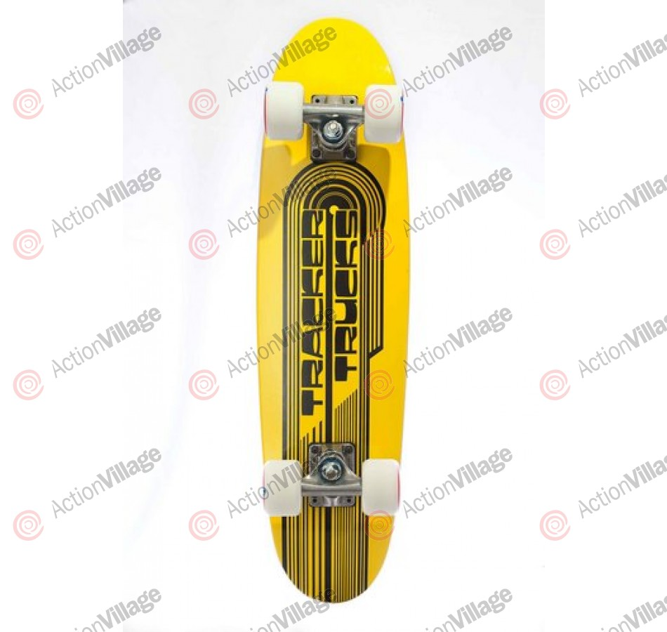 Tracker Classic Wing Cruizer Yellow - 7.5 X 29 - Complete Skateboard