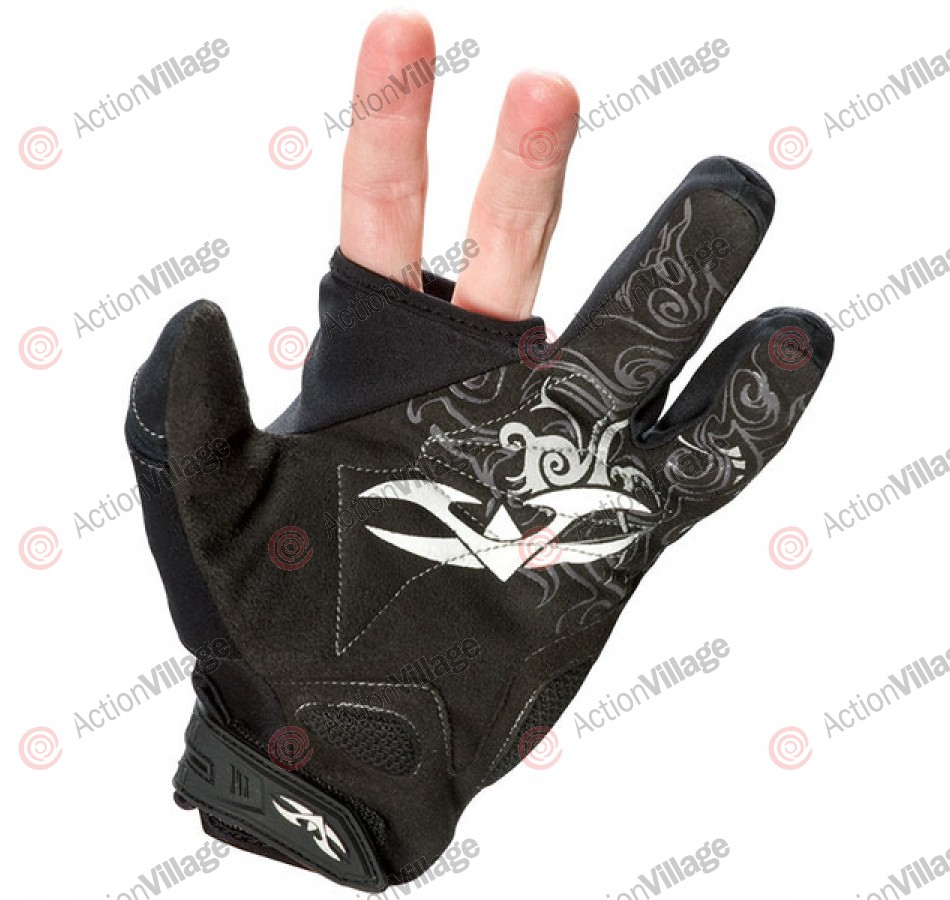2010 Valken Two Finger Paintball Gloves - Black