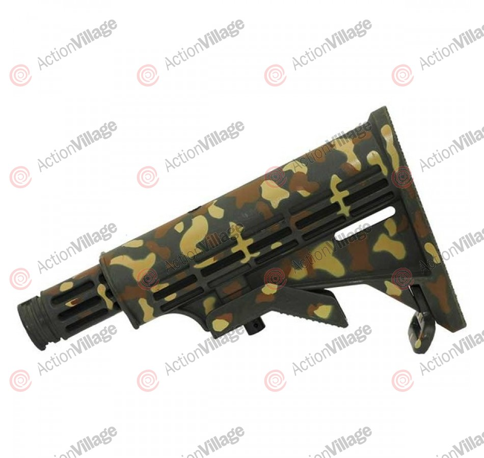 Valken SW-1 Adjustable Car Stock - Tan/Brown Camo