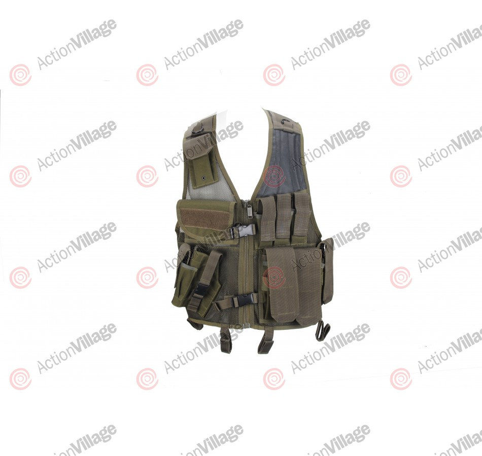 Tac Force Crossdraw Tactical Vest - Left Hand - Olive