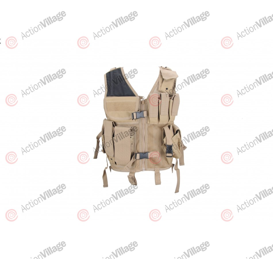 Tac Force SMG Tactical Vest - Right Hand - Tan