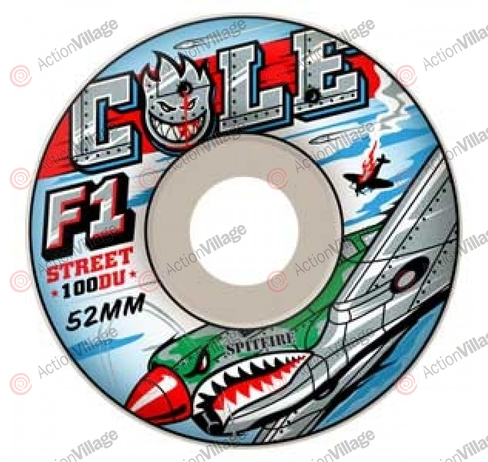 Spitfire Wheels F1 Cole Warhawk White - 52mm - Skateboard Wheels