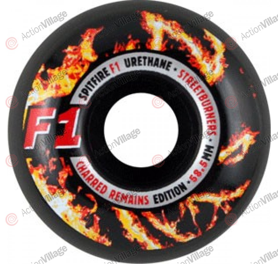 Spitfire Wheels F1 Streetburners Charred - 58.5mm - Skateboard Wheels