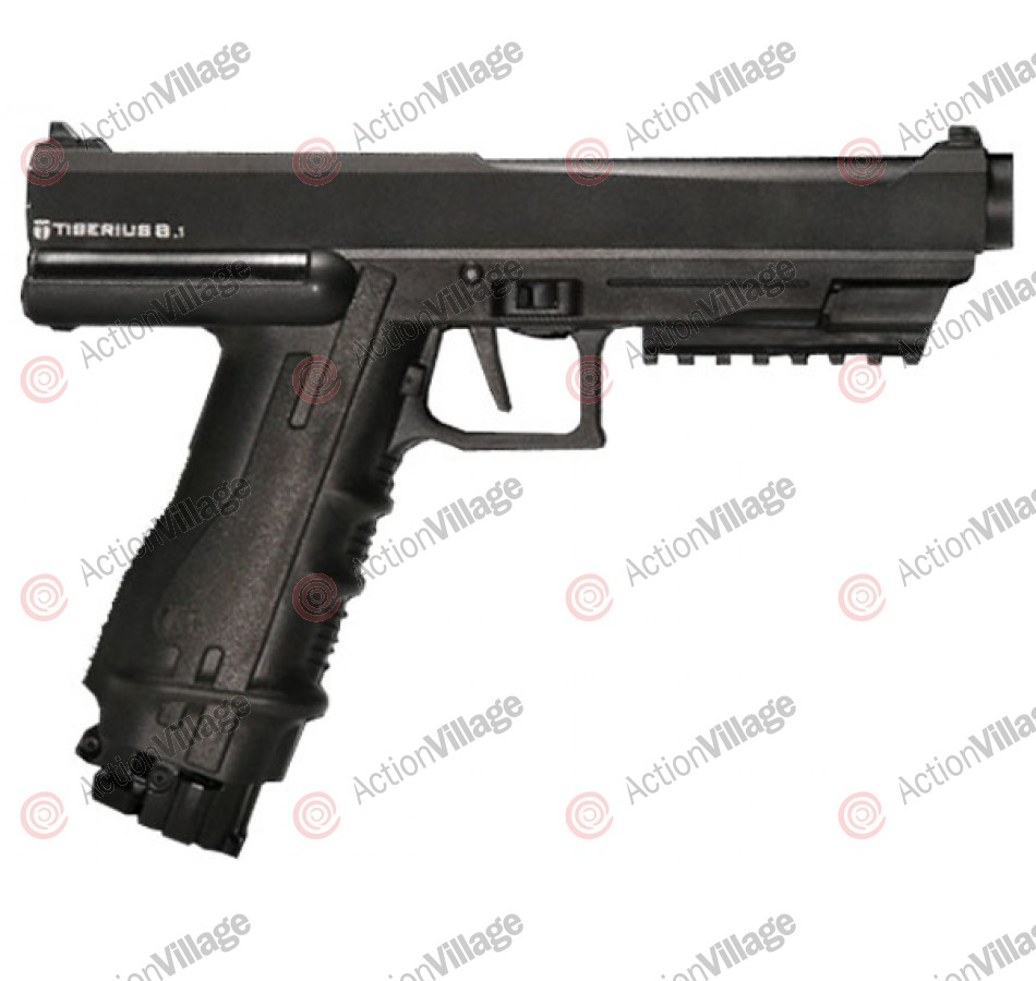 Tiberius Arms 8.1 Paintball Gun Pistol - Black/Black