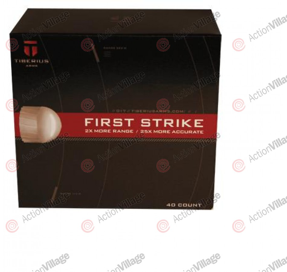 Tiberius Arms First Strike Paintballs 40 Count - White Fill