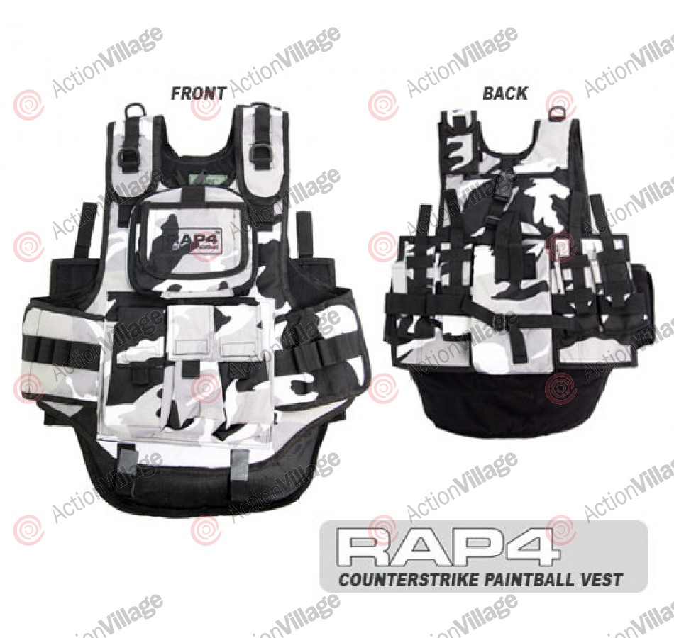 RAP4 Counterstrike Paintball Vest - Urban City Camo