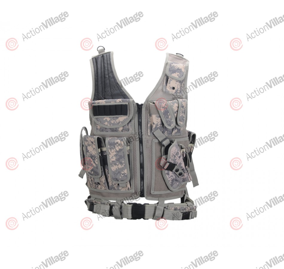UTG Crossdraw Tactical Airsoft Vest - Right Hand - ACU Digi