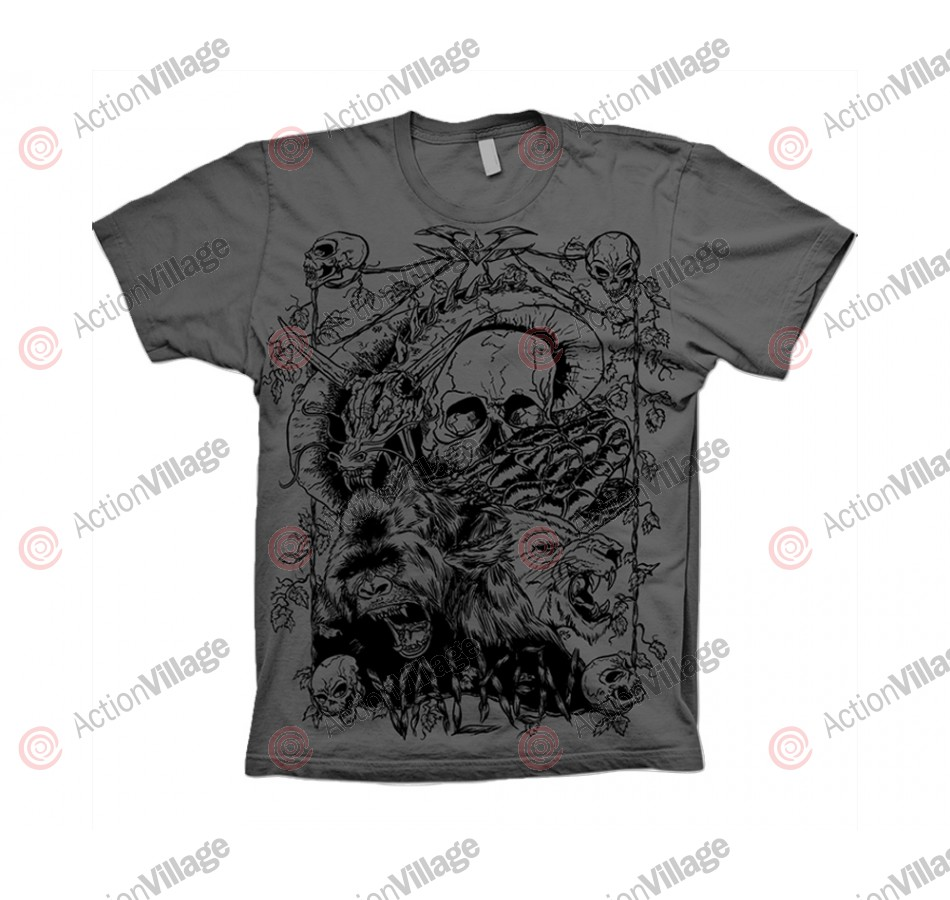 2012 Valken Paintball Wildlife T-Shirt - Grey