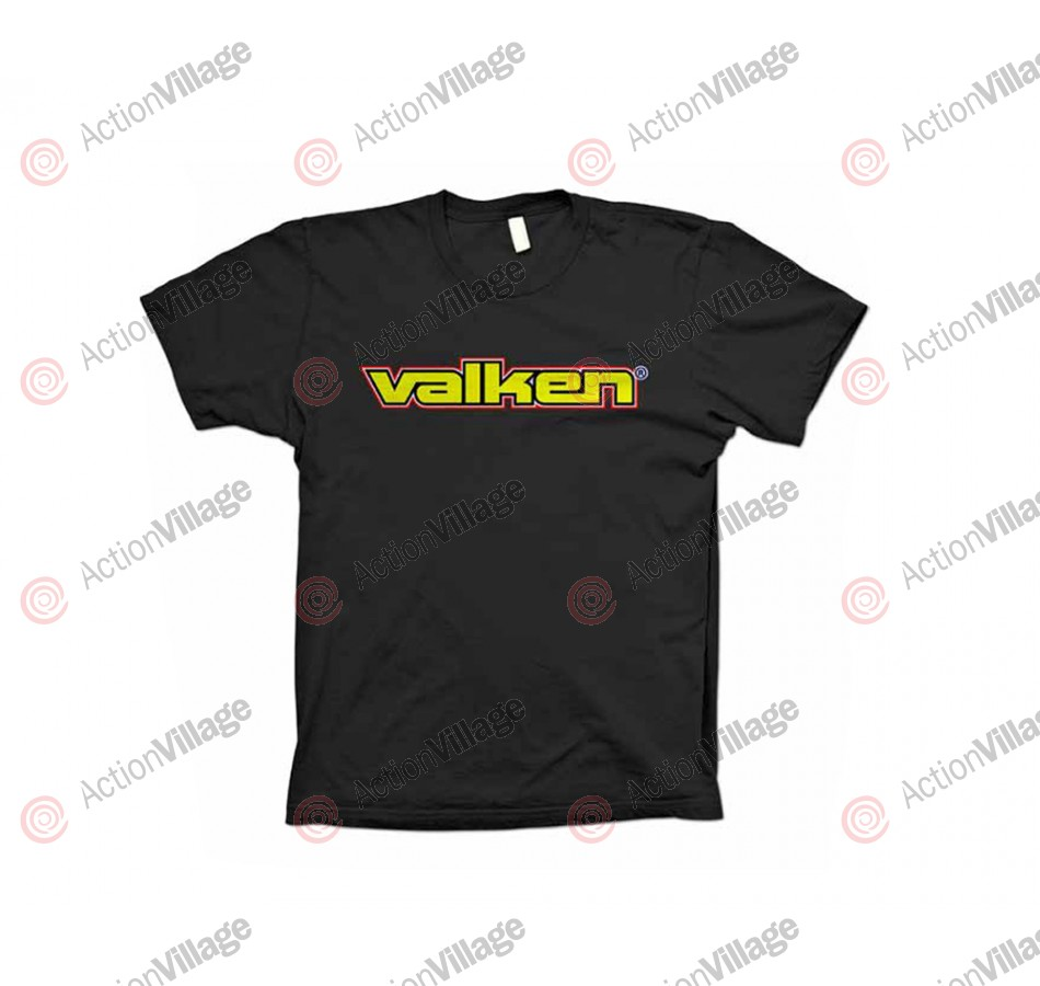2012 Valken Paintball Word T-Shirt - Black