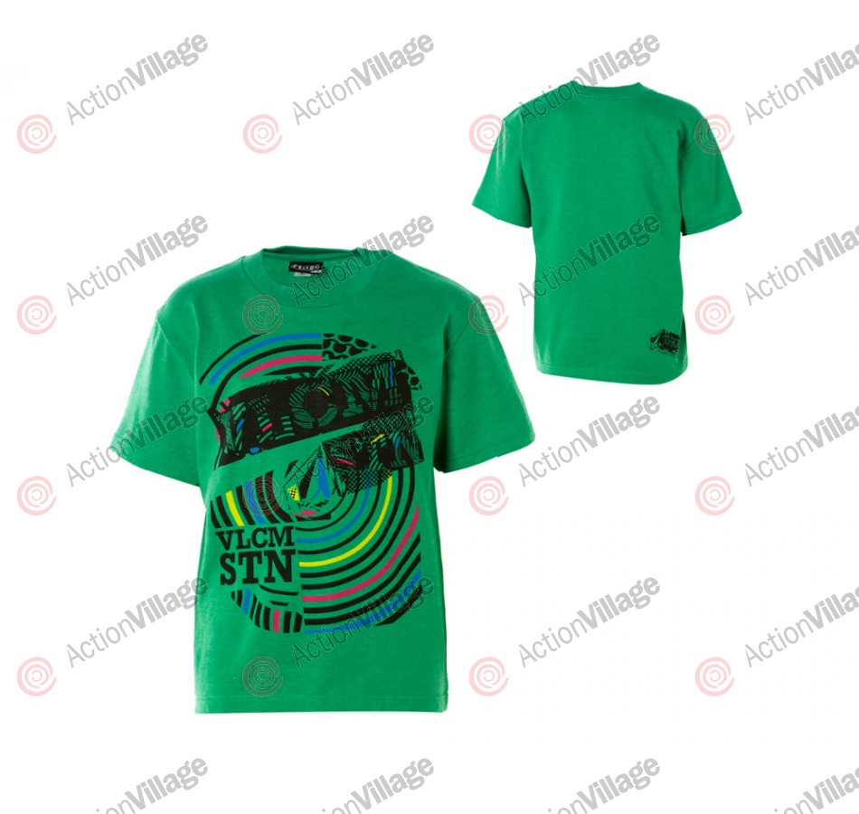 Volcom Rocky Taca - Heather Green T-Shirt - X Large