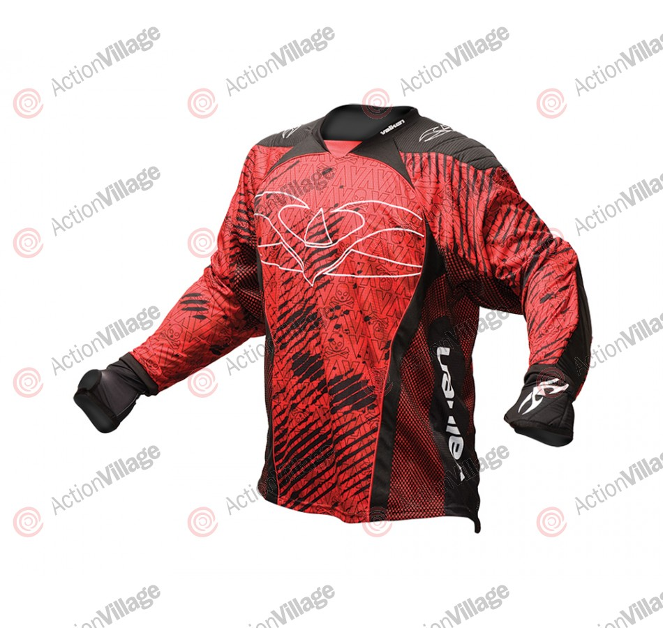 2013 Valken Redemption Paintball Jersey - Red Scar