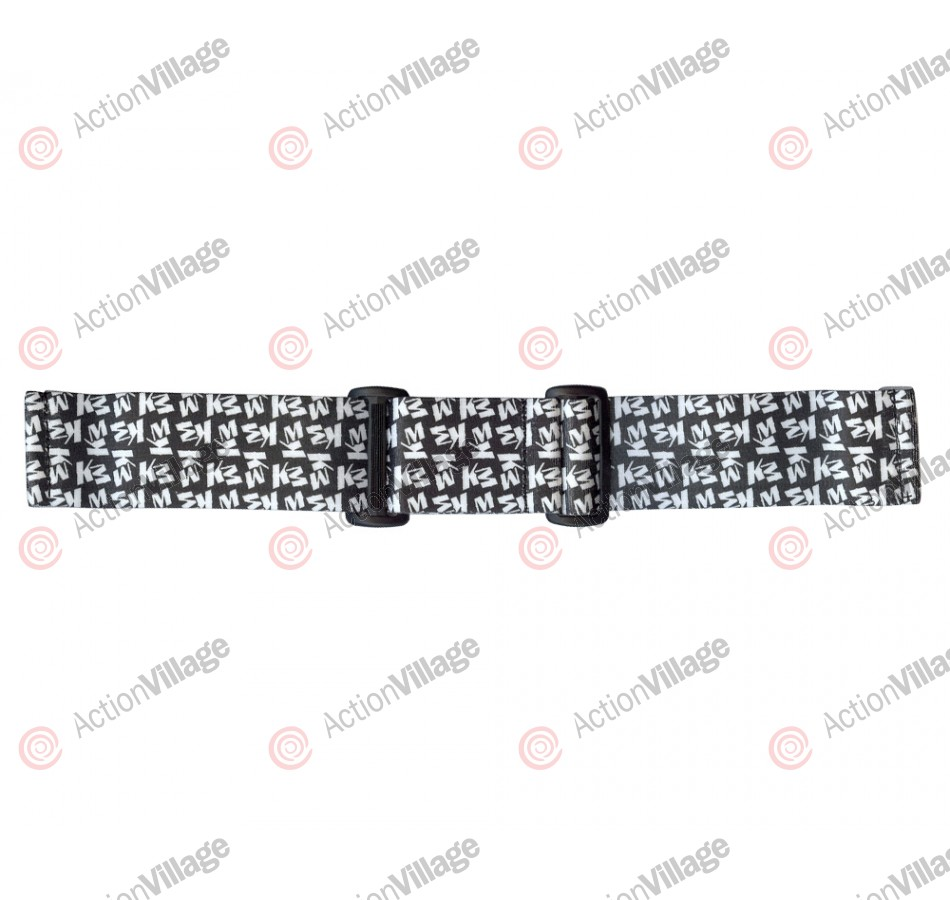 KM Paintball Goggle Strap - 09 Da Strap Black White