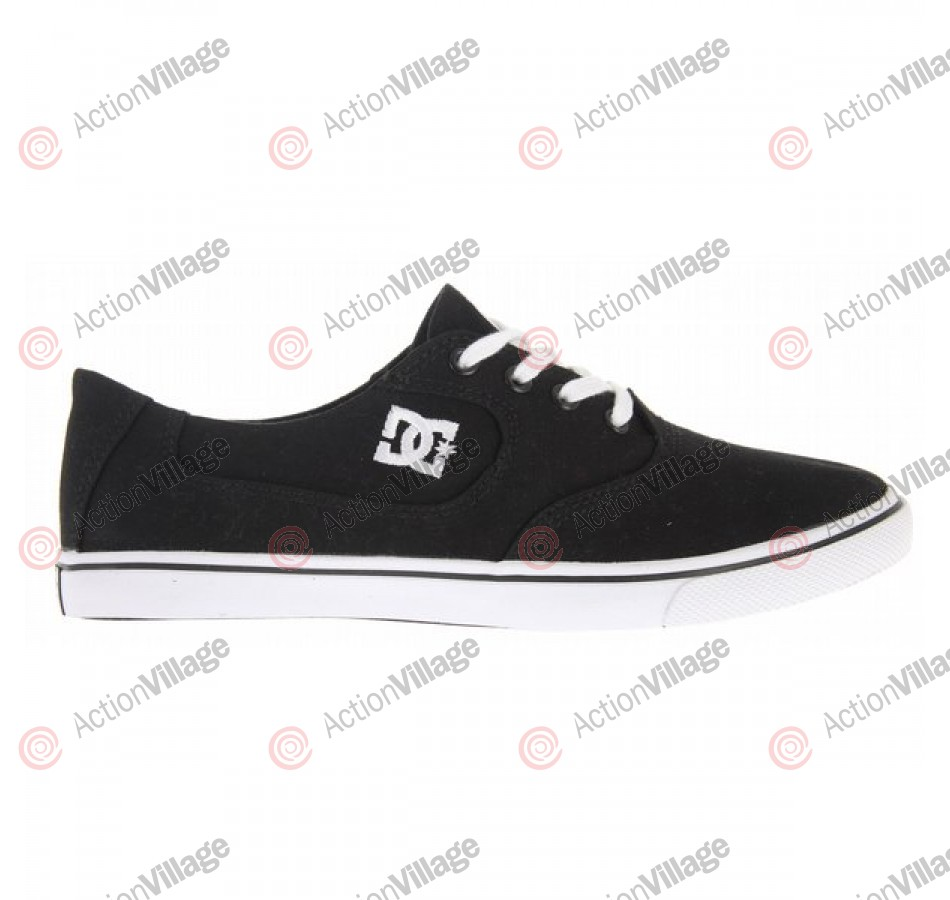 DC Women's Flash Canvas  - Women's Shoes Black / White