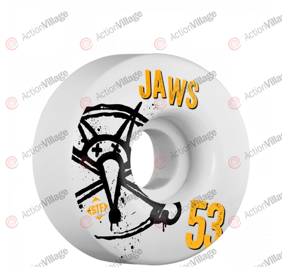 Bones STF Pro Homoki Numbers - 53mm - White - Skateboard Wheels